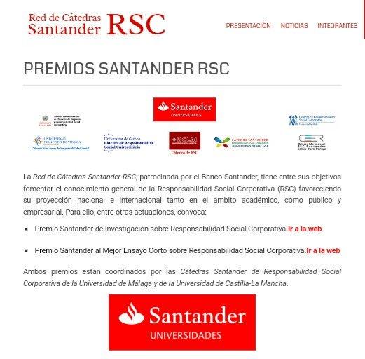 III PREMIO SANTANDER AL MEJOR ENSAYO CORTO SOBRE RESPONSABILIDAD SOCIAL CORPORATIVA Convocatoria 2017