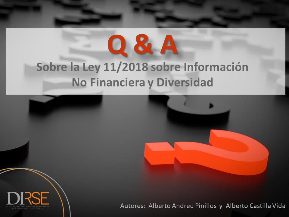 Q&A sobrela Ley de Información No Financiera y Diversidad