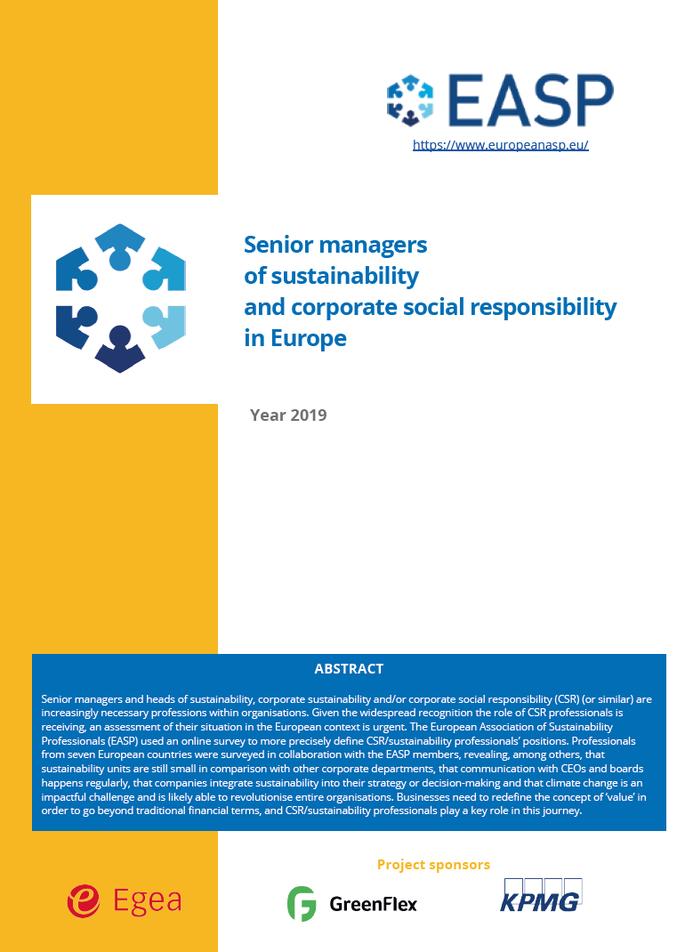 "Estudio EASP ""Who are Sustainability Managers in Europe?"""