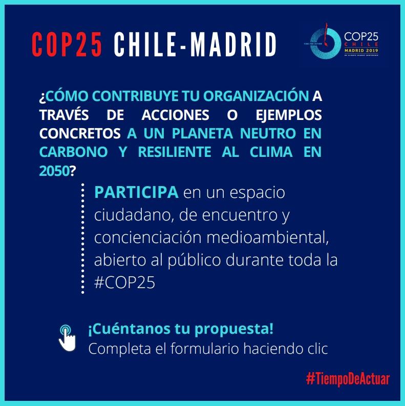 Información importante sobre la  COP25 de Cambio Climático