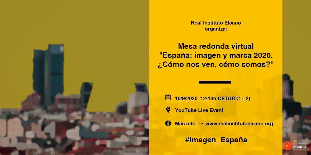 """Mesa redonda virtual """"España: imagen y marca 2020. ¿Cómo nos ven, cómo somos?"""""""