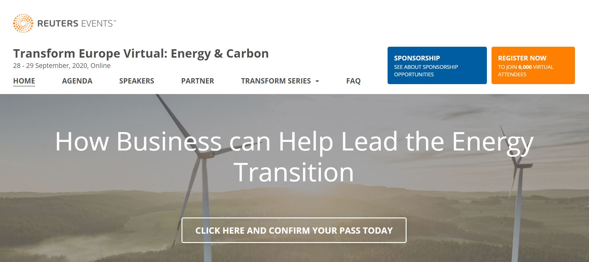 Reuters Events_ Transform Europe Virtual: Energy & Carbon