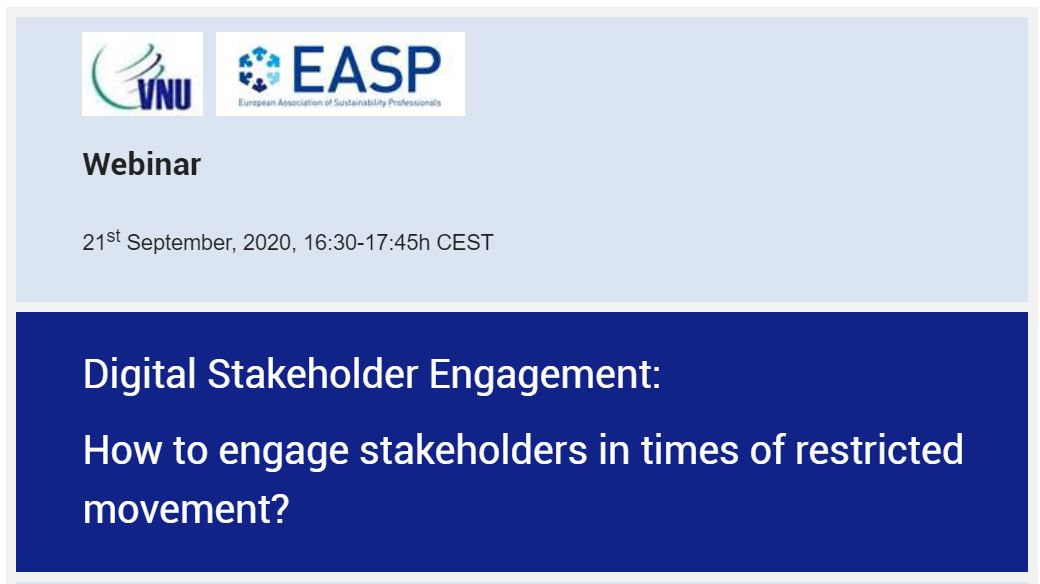 Digital Stakeholder Engagement: How to engage stakeholders in times of restricted movement?