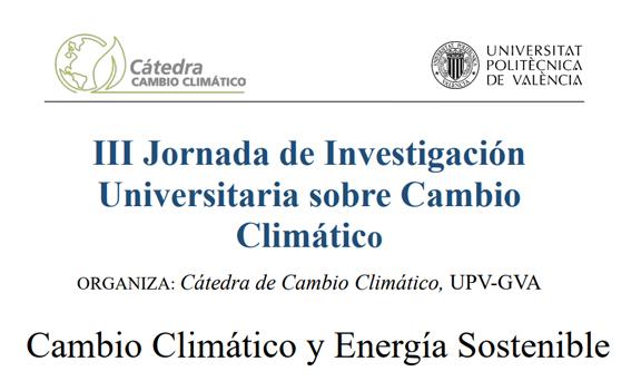III Jornada de Investigación Universitaria sobre Cambio Climático