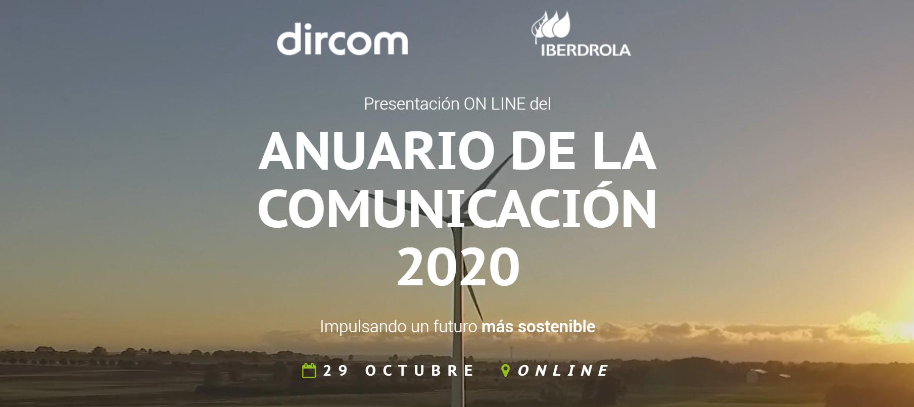 """Presentación del Anuario de la Comunicación 2020: """"Impulsando un futuro más sostenible"""""""