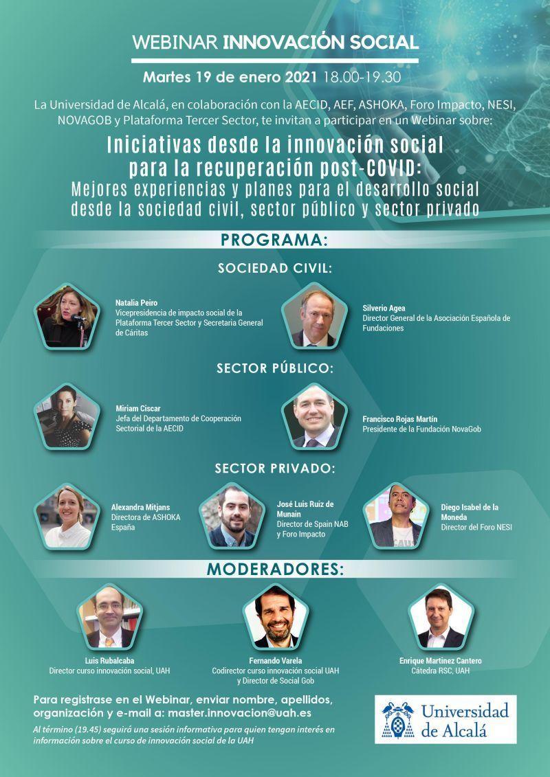 Iniciativas desde la innovación social para la recuperación post – COVID
