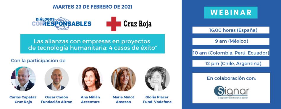 """Diálogos ObservaRSE/Corresponsables: """"Alianzas Empresa-ONG. Especial Cruz Roja. Proyectos de tecnología humanitaria: 4 casos de éxito"""""""