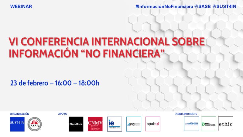 """VI Conferencia Internacional sobre Información """"No Financiera"""""""