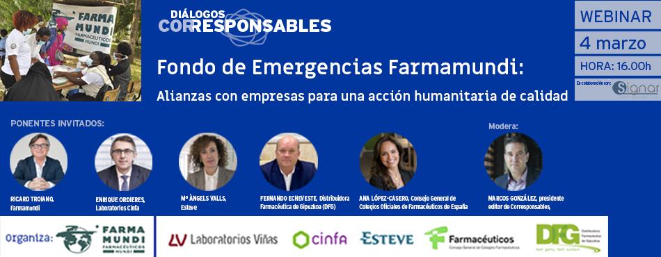 """Fondo de Emergencia Farmamundi: """"Alianzas con empresas para una acción humanitaria de calidad"""""""