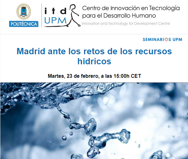 Madrid ante los retos de los recursos hídricos y adaptación al cambio climático