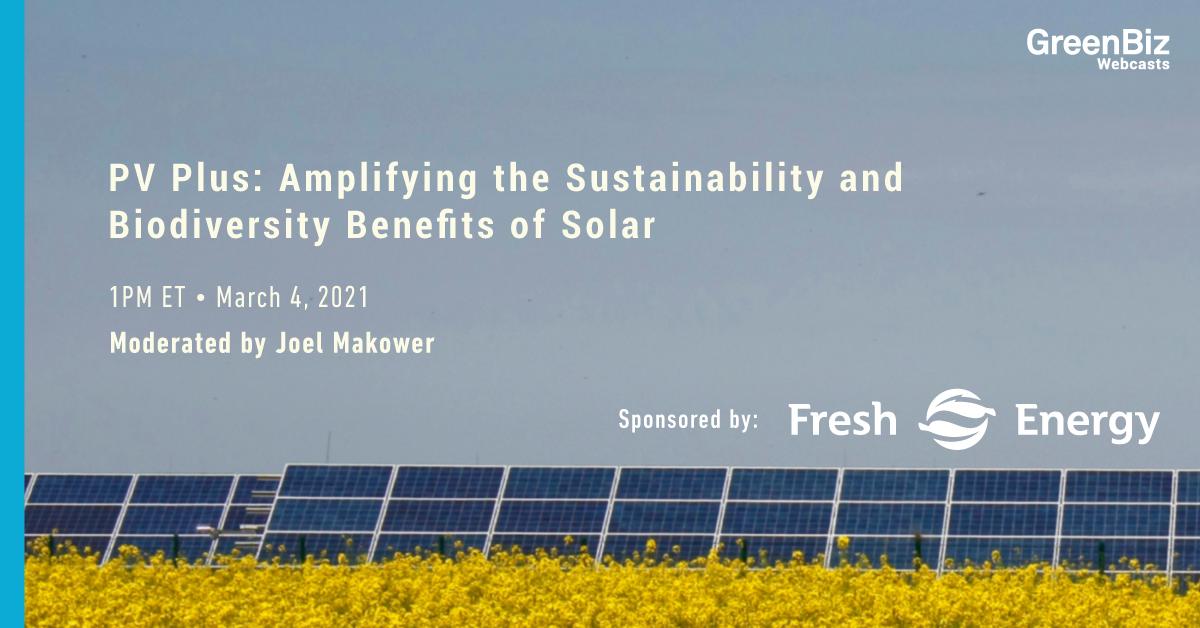 PV Plus: Amplifying the Sustainability and Biodiversity Benefits of Solar