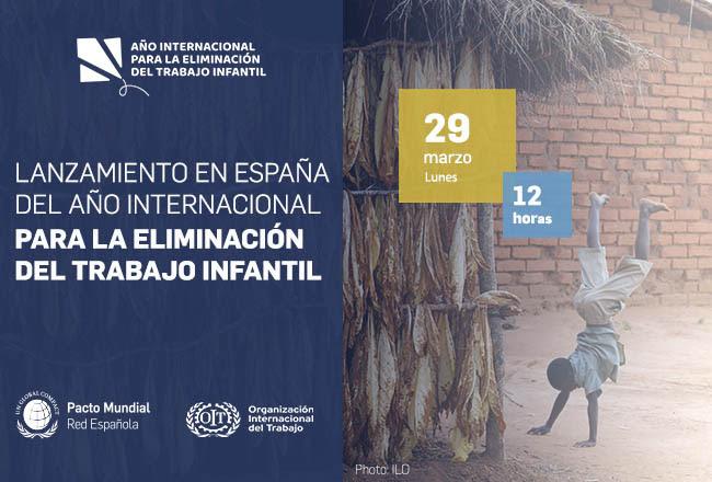Lanzamiento en España del Año Internacional para la Eliminación del Trabajo Infantil