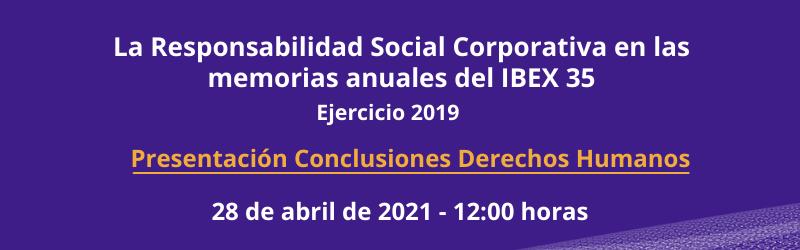Presentación conclusiones de Derechos Humanos en las empresas del IBEX 35