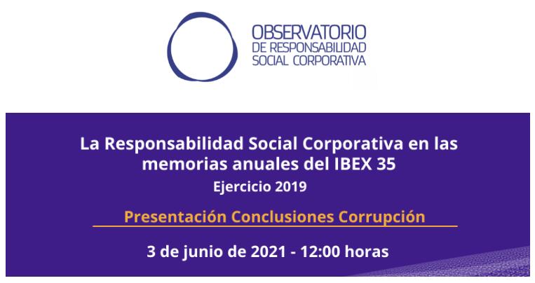 Presentación conclusiones de Corrupción en las empresas del IBEX 35