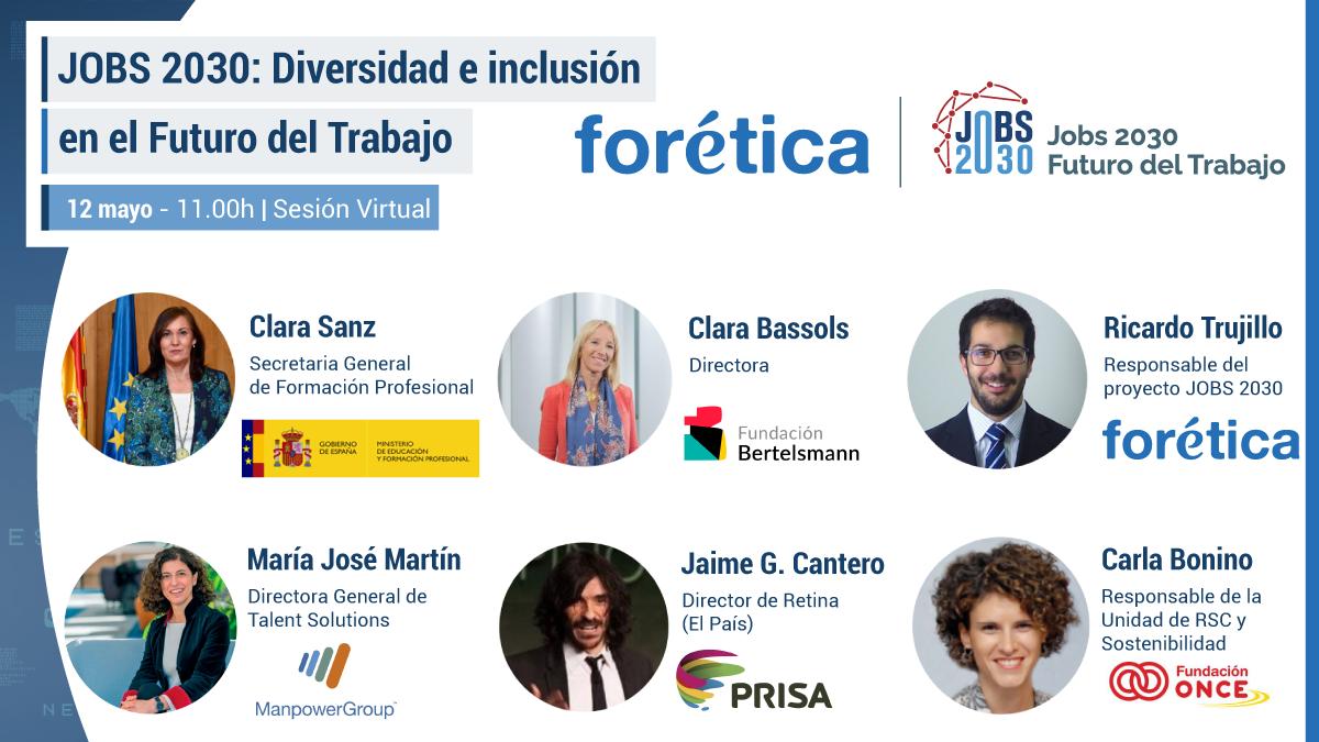 """Encuentro """"JOBS 2030: Diversidad e inclusión en el Futuro del Trabajo"""""""