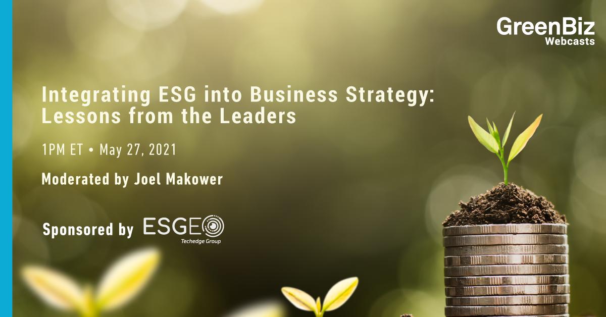 Integration ESG to bussiness Green Biz