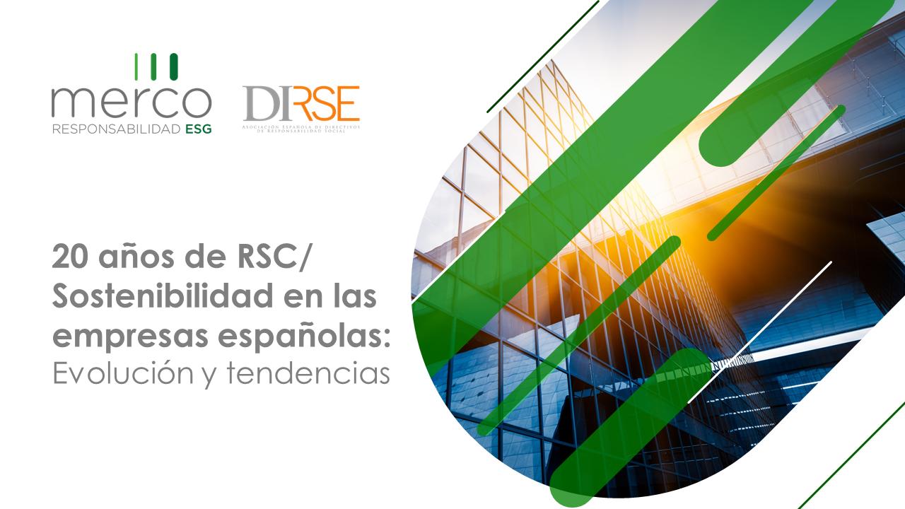 20 años de RSC/Sostenibilidad en las empresas españolas: Evolución y tendencias