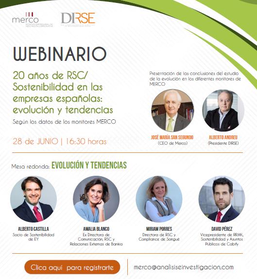 Presentación del Estudio y webinario 20 años de RSC/S en las empresas españolas: evolución y tendencias