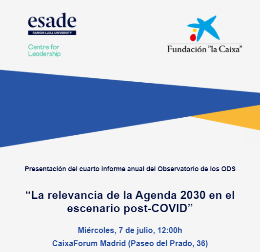 """""""La relevancia de la Agenda 2030 en el escenario post-COVID"""""""