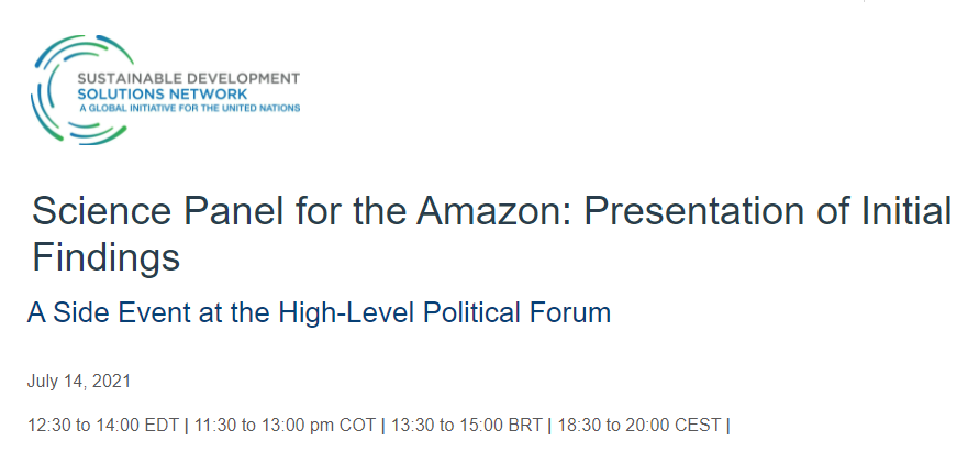 Presentation of Initial Findings of the Science Panel for the Amazon