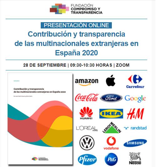 Contribución y transparencia de las multinacionales extranjeras en España