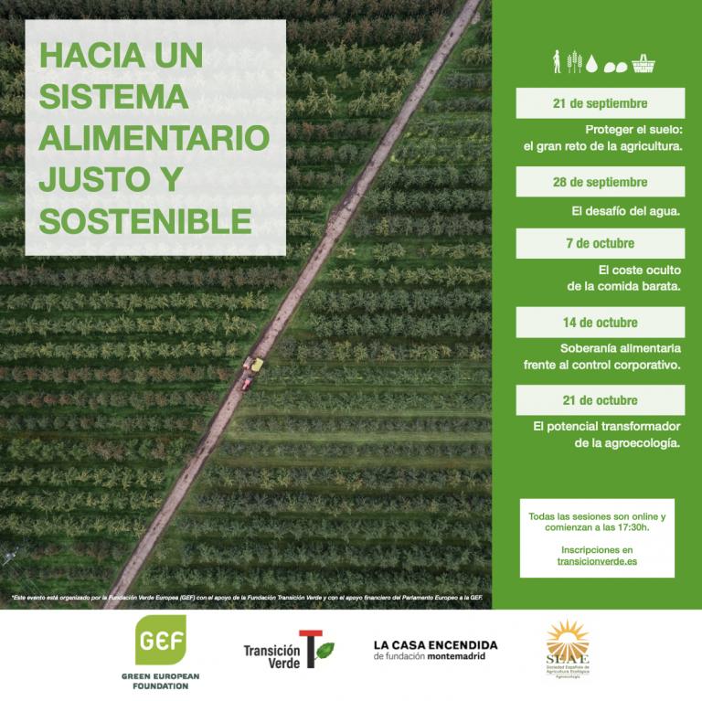 """Ciclo """"Hacia un sistema alimentario justo y sostenible"""": El desafío del agua"""