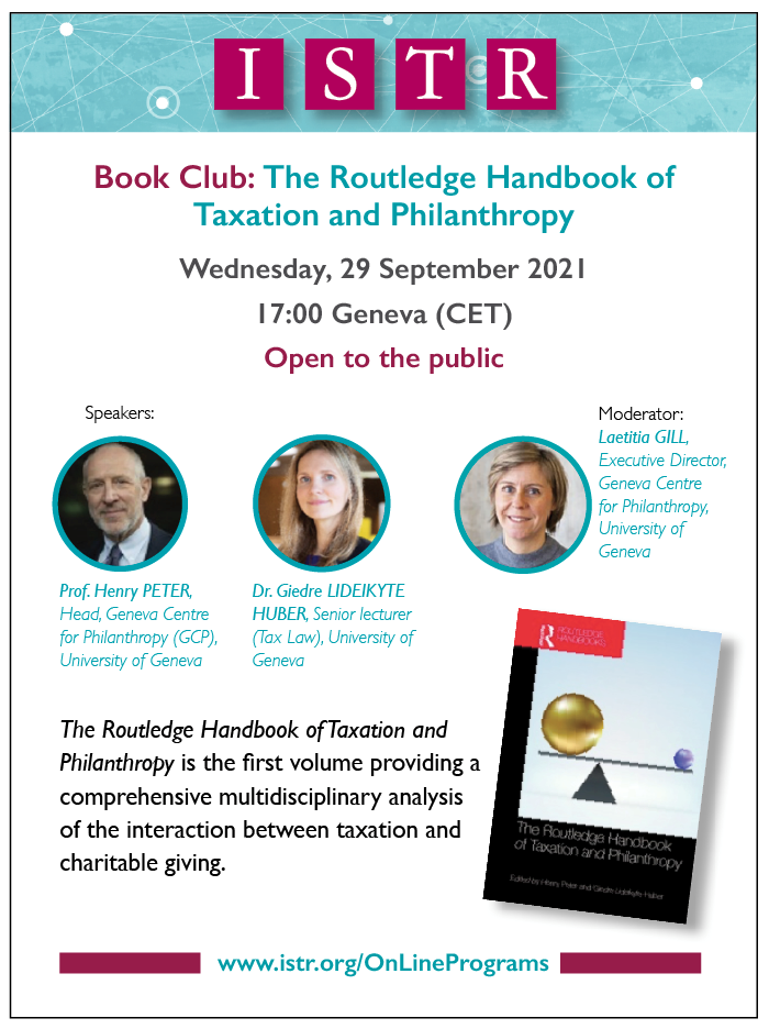 The Routledge Handbook of Taxation and Philantrophy