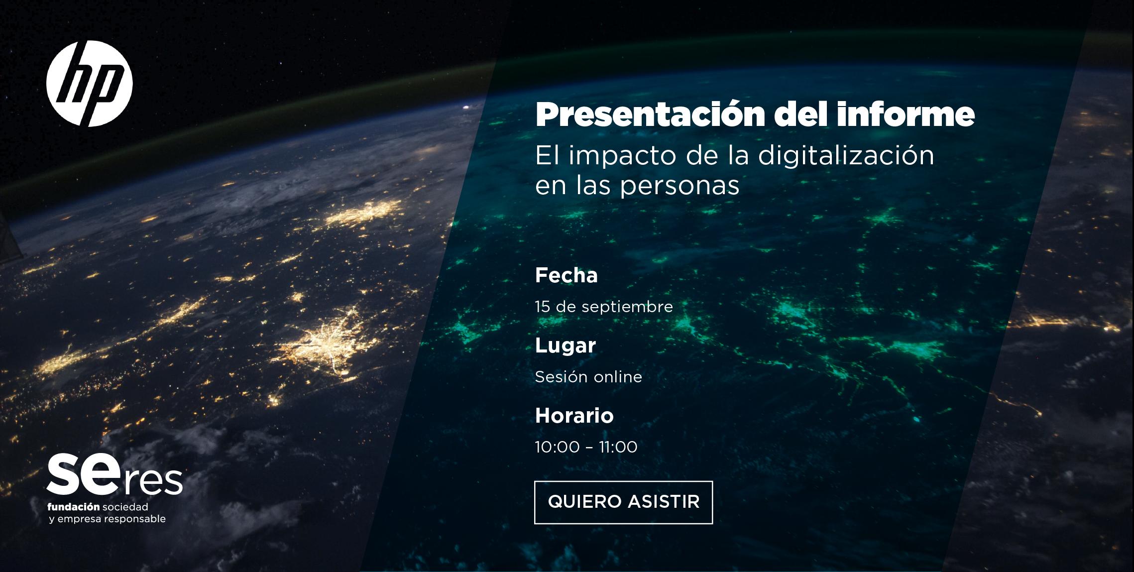 Presentación del informe: EL IMPACTO DE LA DIGITALIZACIÓN EN LAS PERSONAS